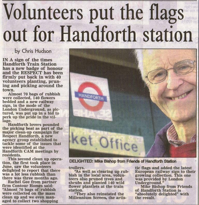 Handforth London Underground sign
