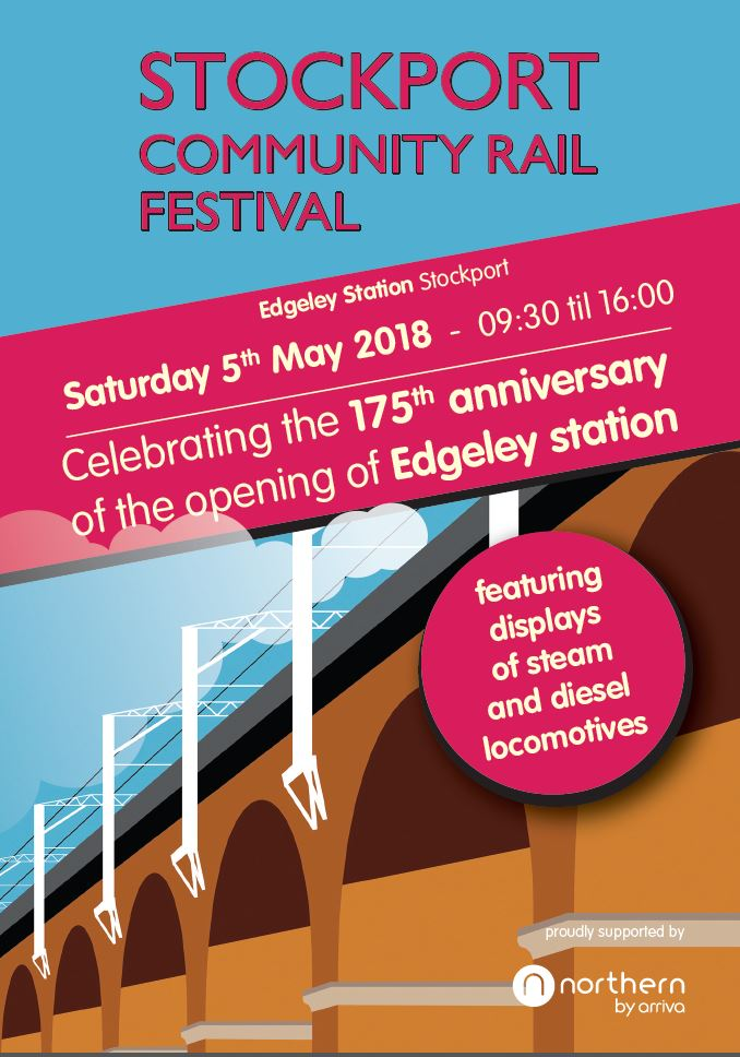 Stockport Community Rail Festival Sat 5th May 2018 – all welcome !!