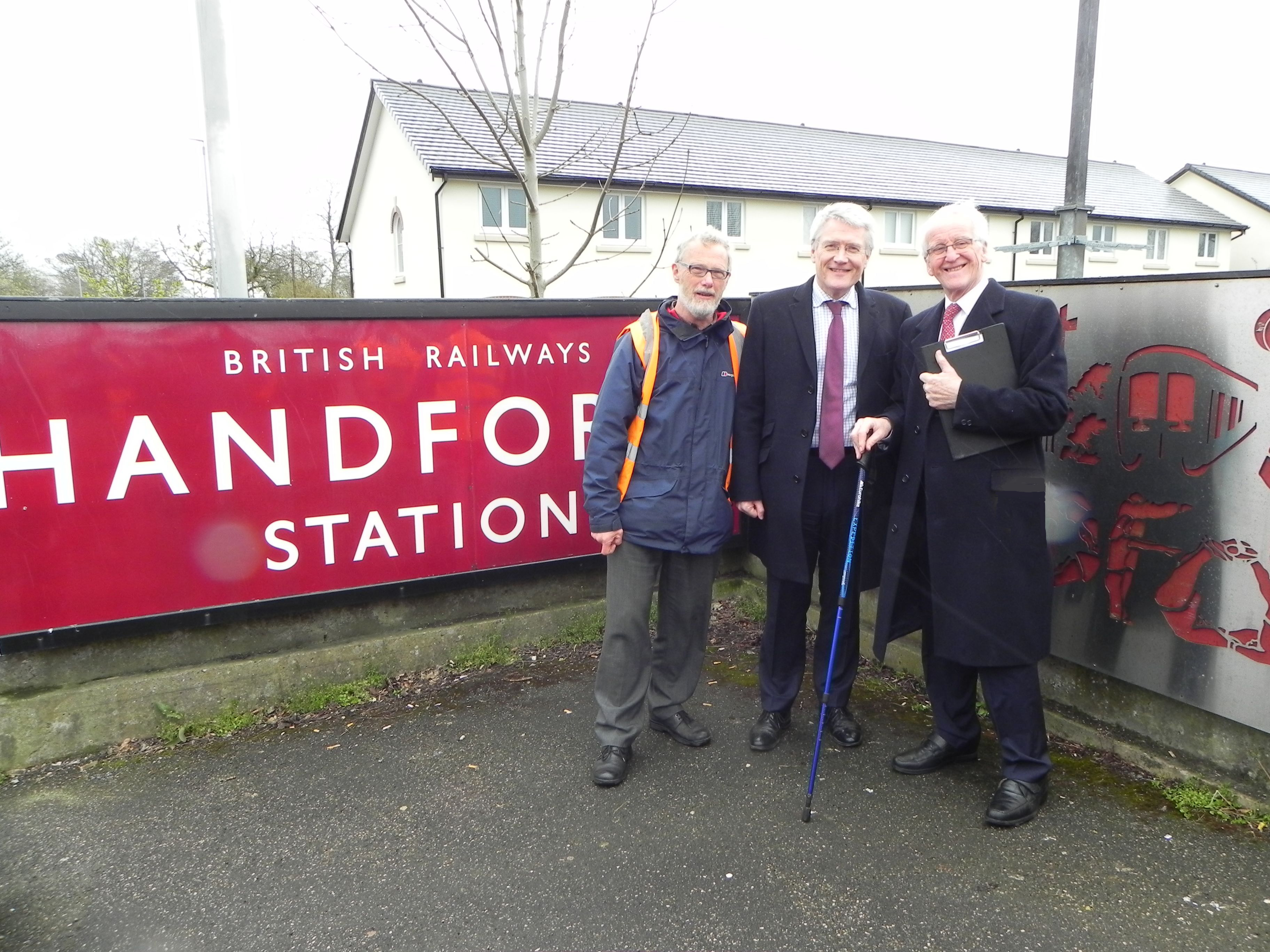 Minister visits Handforth Station to announce funding